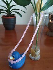 Beautiful Naturalpink jadegemstone beads 6-14mmnecklace 48cm- UK seller