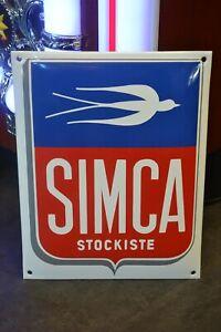 Plaque émaillée SIMCA  - deco garage loft email enamel sign -