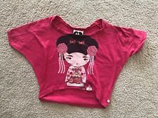 Girl Harajuku Lovers Gwen Stefani Cherry Blossom Pink Shirt Top 2 3 4 5 6