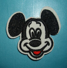 NEW 1 pc MICKY MOUSE HEAD  Iron On Embroidered Applique Mickey