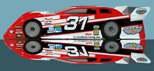 "Standard 1/10 Clear RC car body LERNERVILLE Late Model Dirt Oval 10"" w  ...#283"