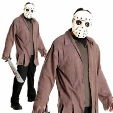 Jason Friday The 13th Horror Scary Movie Adult Halloween Mens Fancy Costume+Mask