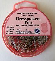 Hemline Dressmakers Fine Long Nickel Plated Carbon Steel Long Pins 30mm 330piece