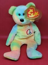Ty Beanie Baby Peace The Bear 1996 Rare Beanie Baby 2 of 2 * check other listing