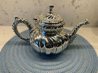 Vintage silverplate teapot - highly decorated, very pretty!