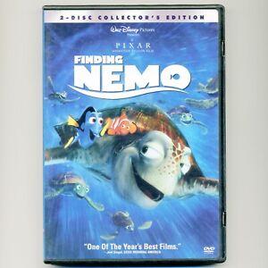 Finding Nemo Disney PIXAR 2003 G family movie, 2 mint DVDs Dory, clownfish, reef