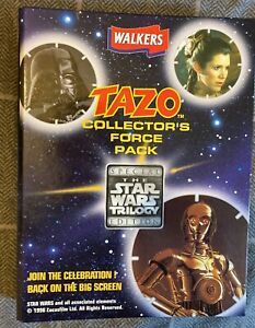 Walkers star wars tazos collectors force pack Trilogy edition Complete & MINT
