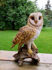 Barn Owl Figurine Statue Resin Ornament 14 in. T. Garden Home Decor New
