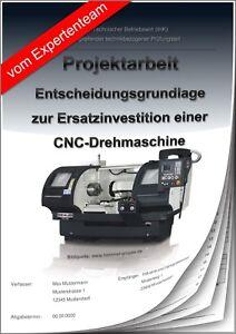 Technischer Betriebswirt TBW Projektarbeit & Präsentation IHK CNC Investition