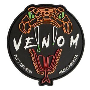 "RAN 816 SQN Flight 7 ""Venom"" MH-60R Aircrew PVC Patch - 95mm - New"