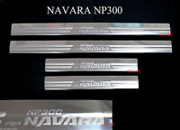 4 Door Stainless Steel Scuff Plate Sill Door Fits Nissan Navara Np300 2015 17 18