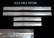 CHROME DOOR SILL SCUFF PLATE ENTRY GUARD FOR NEW NISSAN NAVARA NP300 2014 2015