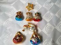 Dept 56 Hand Blown Mercury Glass Nativity Ornaments Rare Retired