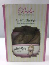 Babe Doll Bangs - Marilyn #613 Straight Across clip-in 100% Human Hair