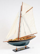 "Eric Tabarly's Pen Duick Yacht Painted Wooden Model 27"" Sailboat Assembled"