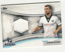2013-14 TOPPS BARCLAYS ENGLISH PREMIER LEAGUE GOLD RELICS AARON HUGHS JERSEY