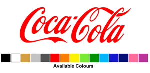 Coca Cola Logo, Vinyl Graphics Sticker, Exterior, Choose From 15 Colours