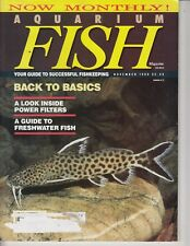 Aquarium Fish Magazine 1990 November  - Catfish , power filters , Freshwater