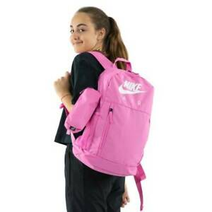 Nike Elemental Backpack Pink School Bag Unisex Kids Girls