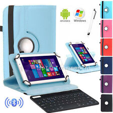 "HOT For 7"" 7.9"" Tablet Bluetooth Keyboard +360 Rotate Leather Stand Case Cover"