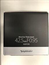 Voigtlander Nokton 42.5mm f/0.95 MF Lens For Four Thirds
