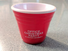 OFFICE CHRISTMAS PARTY movie promo SHOT GLASS red Jennifer Aniston Jason Bateman