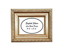 """2 1/2"""" x 3 1/2"""" Aceo English Silver Solid Wood Frame"""
