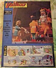 VAILLANT N°822,1962 Placid Muzo et Pif : Carnaval Roi de l'Extravagance Maitre d