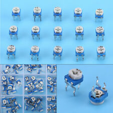 150Pcs 100ohm-1Mohm Vertical PCB Preset Variable Resistor Trimmer Potentiometer