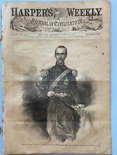 Harper's Weekly 8-30-1862 GEN'S STONEWALL JACKSON & JOHN MORGAN, Baton Rouge, LA