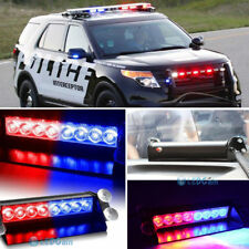 8LED Car Truck Dash Strobe Flash Light Emergency Police Warning 3 Modes Red/Blue