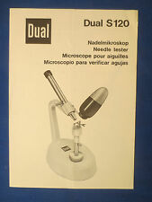 DUAL S120 STYLUS MICROSCOPE OWNERS MANUAL ORIGINAL FACTORY ISSUE