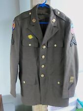 U.S. ARMY WORLD WAR II (WWII) MENS COMPLETE DRESS UNIFORM WITH RANK & PATCHES