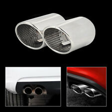 2x Chrome Stainless Steel Tail Rear Exhaust Muffler Tip Pipe Fit for AUDI A5
