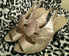 Fredrick's of Hollywood, gold wedges, Size 8 shoes,sandals,heels