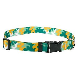 NEW Green & Gold Dog and Cat Collar in Team Spirit Camo by Yellow Dog Design