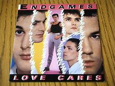 """ENDGAMES - LOVE CARES   7"""" VINYL PS"""