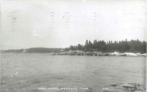 WEST SHORE, NEWAGEN, MAINE, REAL PHOTO, POSTMARKED 1956