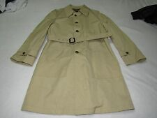 MENS VINTAGE CHRISTIAN DIOR PARIS LONG TRENCH COAT 42L GLENEAGLES MADE IN USA