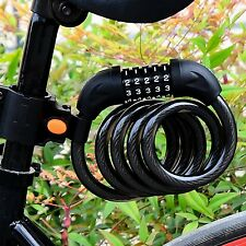Cycling Security 5 Digit Combination Password Bike Bicycle Cable Chain Lock