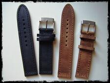 Cinturini artigianali in vero cuoio 20-22-24mm Nero e Marrone. Made in Italy
