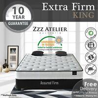 KING Mattress - Super Firm Mattress w/ Extra Firm Pocket Spring + Ultra HD Foam