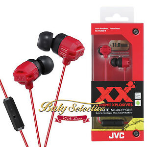 JVC HA-FR202 XTREME XPLOSIVES Inner Ear Headphones with Remote & Mic (5 Color)