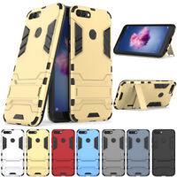 Hybrid Armor Shockproof Hard Cover Kickstand Case For Huawei P Smart/Enjoy 7s