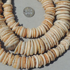 31 inch 79 cm strand old antique shell hair beads mali mauritania #89
