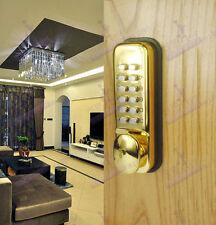 Gold Colour Waterproof Machinery Keyless Password Code Push Button Door Lock
