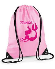 Personalised Mermaid Girls' Swimming Bag/PE Bag/Gym Bag, Pink,Purple,Red or Blue