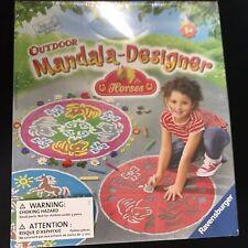 Ravensburger Outdoor Mandala-Designer Horses Playset NEW Coloring Chalk
