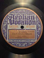"Frank Ferera ""Hawaiian Smiles / Wild Flower Waltz"" Aeolian Vocalion (14055) 1920"
