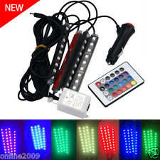 4 x 9LED for Car Charge Interior RGB Light Foot Car Decorative Atmosphere Light